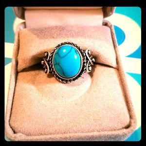 SterlingSilver & Genuine Turquoise Ring